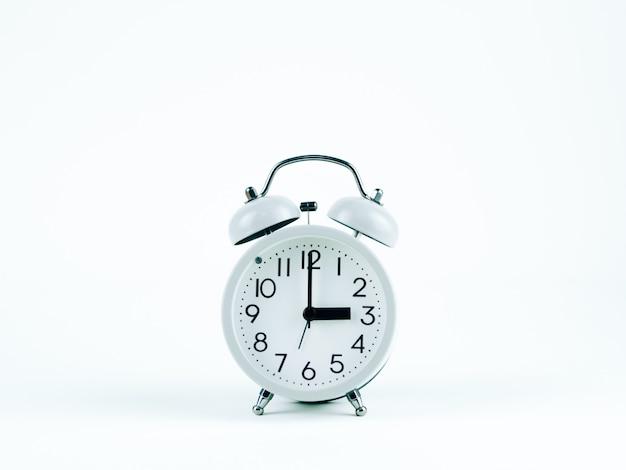 Analog clock on the white background