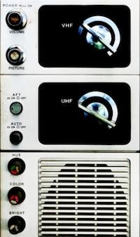 Analog television panel