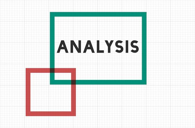 Analysis text on frame