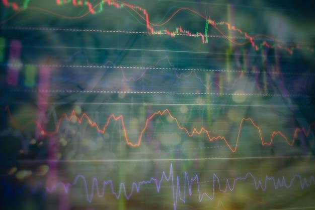 거래 시장에서 분석. 재무 통계 분석 및 시장 데이터 분석을 위한 작업 세트입니다. 차트와 그래프에서 데이터를 분석하여 결과를 찾습니다.