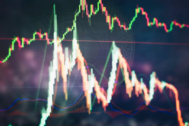 Analyzing in trading market. working set for analyzing financial statistics and analyzing a market data. data analyzing from charts and graph to find out the result.