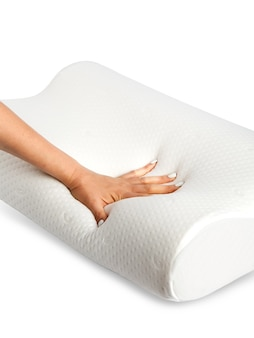 Anatomical pillow made of foam material with memory effect