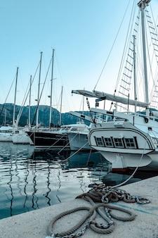 An anchored yacht