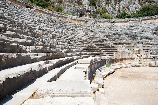 터키 미라의 고대 원형 극장