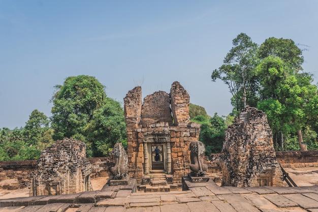 고대 앙코르 와트 유적 파노라마 pre rup 사원 씨엠립 캄보디아
