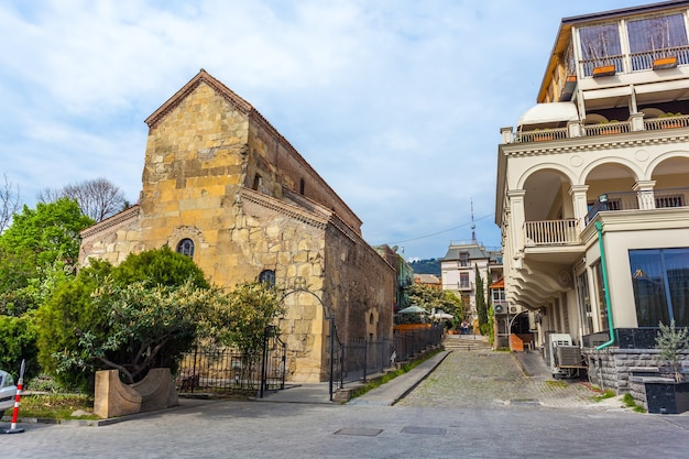 The ancient basilic cathedral of anchiskhati in tbilisi