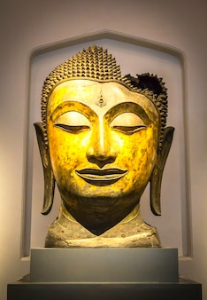 Ancient buddha head