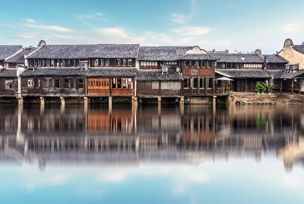 Wuzhen 중국의 고대 건축물
