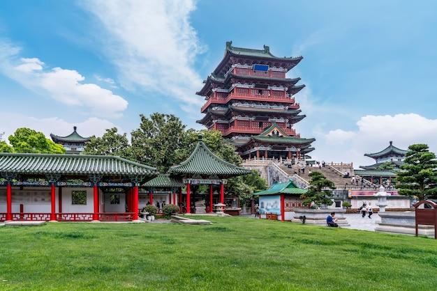 The ancient building next to the lijiang river, nanchang tengwang pavilion.