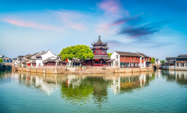 Ancient buildings and houses in shantang street, suzhou