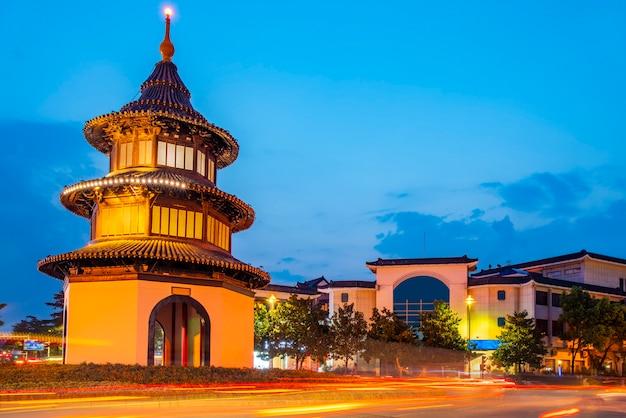 Ancient buildings in yangzhou, china: wenchang pavilion.