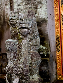 Ancient carving in bali