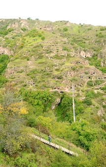 Ancient caves settlement of old khndzoresk, a village in syunik province of armenia