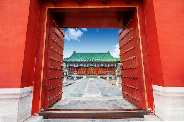 Ancient chinese building gate