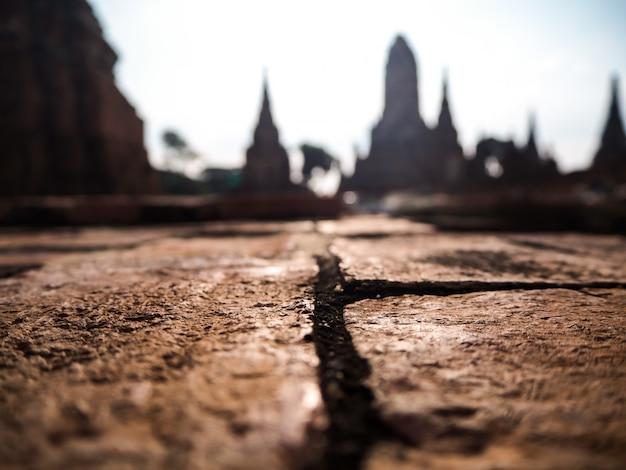 Ancient city blur background