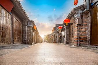 古代都市、東莞オールドストリート、揚州、中国