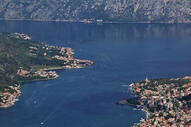 The ancient city kotor on the adriatic coast in montenegro