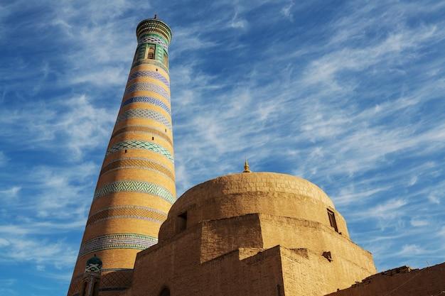 고대 도시 히바, 우즈베키스탄.