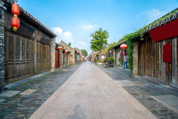 Ancient city street of yangzhou, china