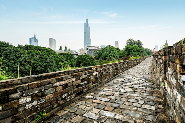 Древние городские стены в нанкине, китай