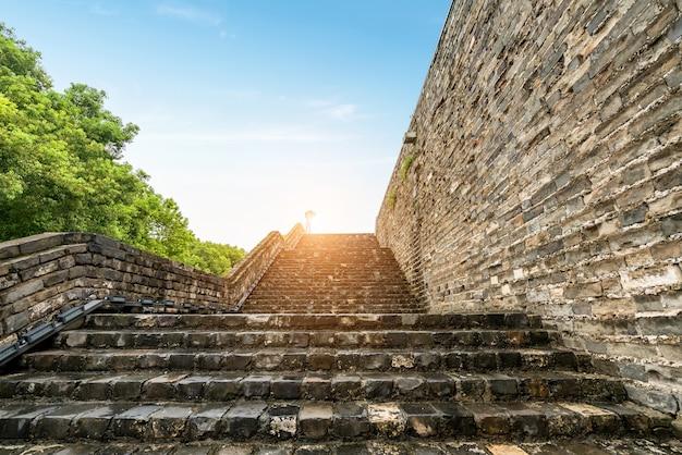 중국 난징의 고대 성벽