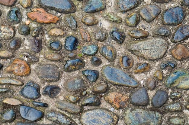 Ancient cobblestone on the italian street