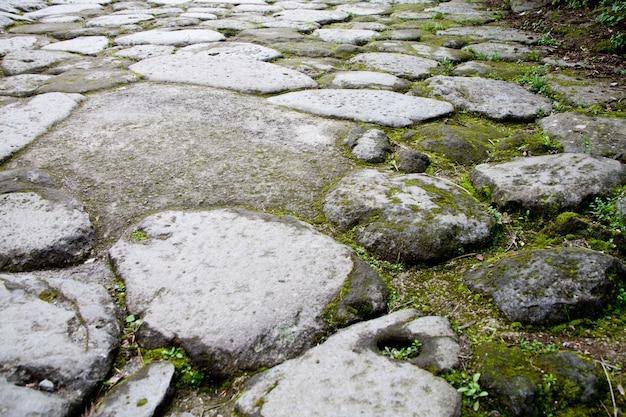 Ancient cobblestone road