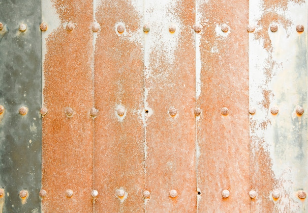 Ancient copper sheeting gates texture background