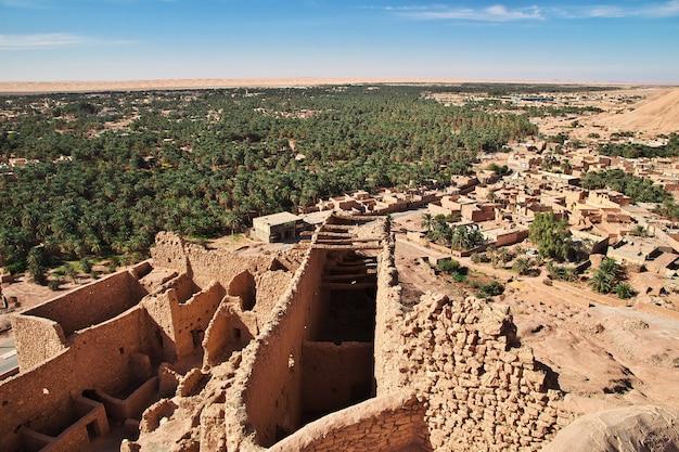 Ancient fortress in sahara desert
