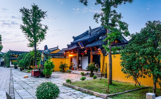 Ancient guan gong temple in dangkou ancient town