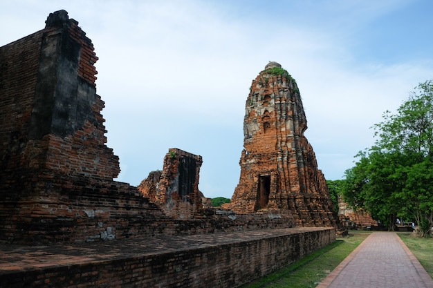Ancient historical monument in thailand