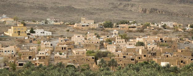 Ancient houses and mud houses in oman
