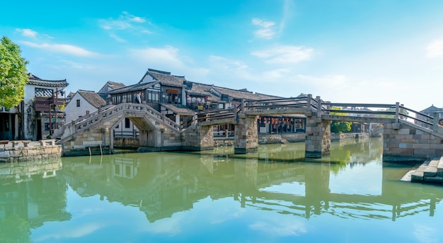 Ancient houses in xitang ancient town, zhejiang