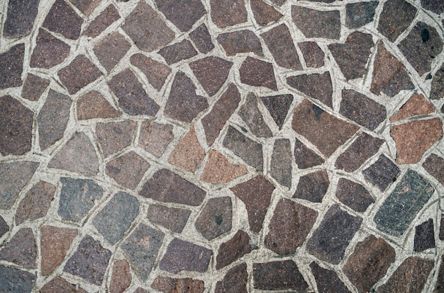Ancient italian typical pavement, closeup pattern