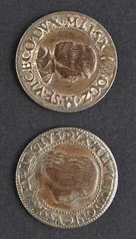 イタリア、ミラノの古代ルドヴィーコ・マリア・スフォルツァ・モロ・ムーア硬貨