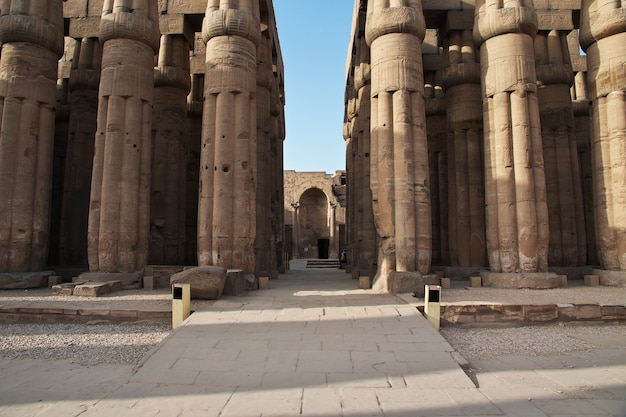 Древний луксорский храм в городе луксор, египет