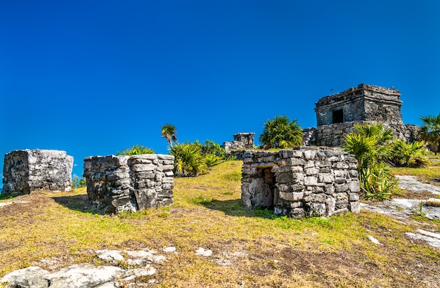 メキシコのキンタナロー州のトゥルムにある古代マヤ遺跡