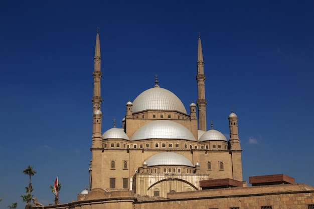 The ancient mosque in the citadel of cairo egypt