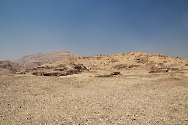 Ancient necropolis valley of artisans in luxor, egypt
