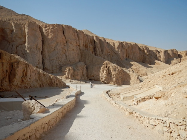 The ancient necropolis valley of the kings in luxor, egypt