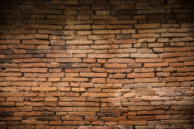 Ancient old brick wall decadent background