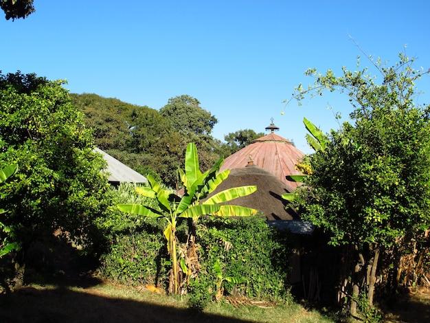 Ancient orthodox church on the island of tana lake, bahr dar, ethiopia