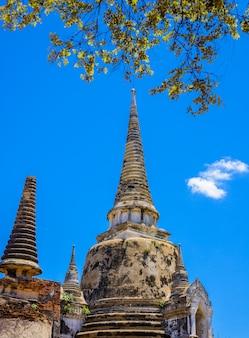 Ancient pagoda in wat phrasisanpetch (phra si sanphet).