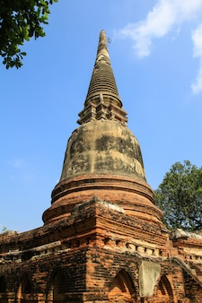 Ancient pagoda at wat yai chaimongkol in ayutthaya ,thailand.
