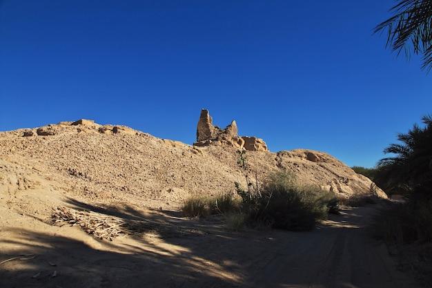 スーダンのエルクルにある古代ファラオの墓