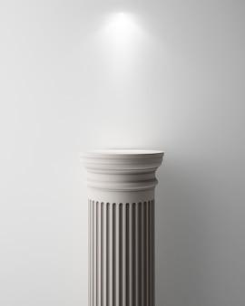 製品プレゼンテーションの古代の柱