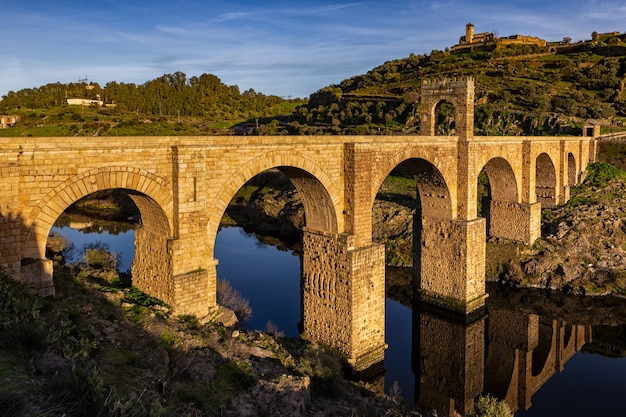 Ancient roman bridge of alcantara. spain.