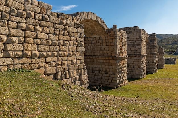 Ancient roman bridge of alconetar