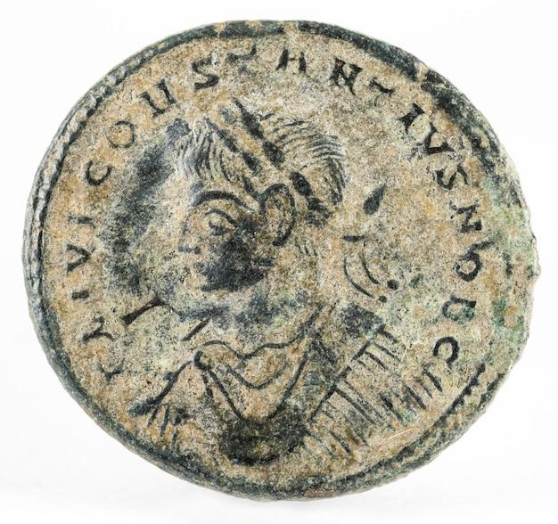 分離されたコンスタンティウス2世皇帝の古代ローマの銅貨