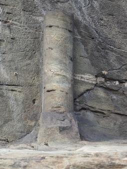 Ancient roman road milestone in donnas